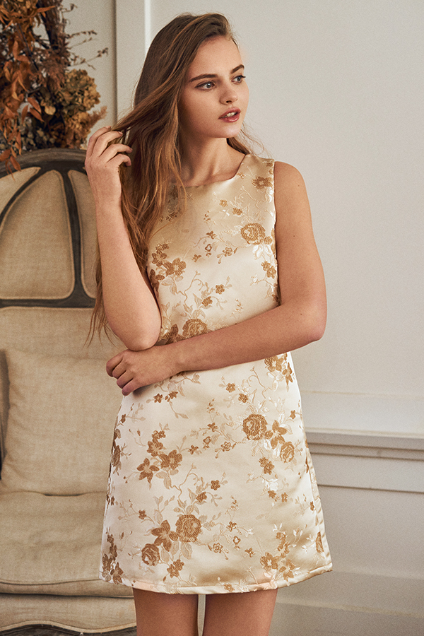 Accalin Jacquard Shift Dress
