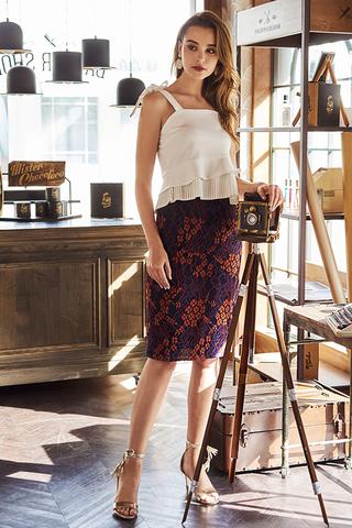 Perisan Lace Midi Skirt