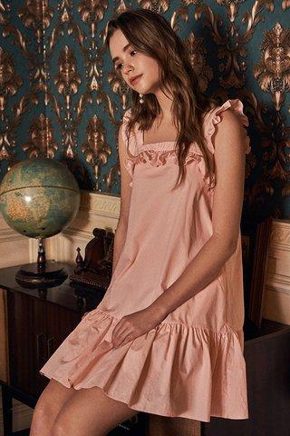 Aria Ruffled Dress in Light Pink