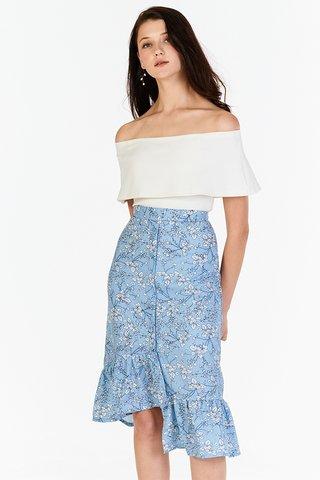 Adarra Off-Shoulder Top in White