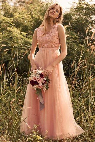 Ellen Pleated Tulle Maxi Dress in Pink