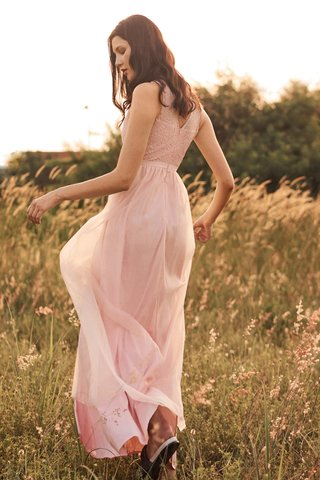 Kenna Tulle Maxi Dress in Pink