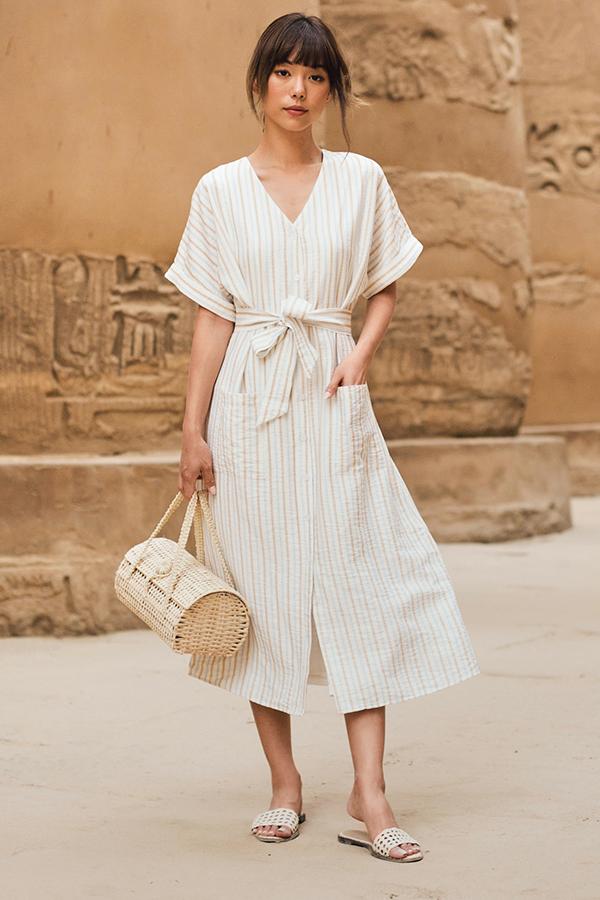 *Restock* Merenre Stripes Midi Dress