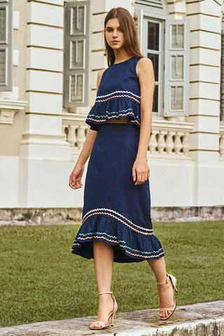 Eleanore Dropwaist Midi Skirt