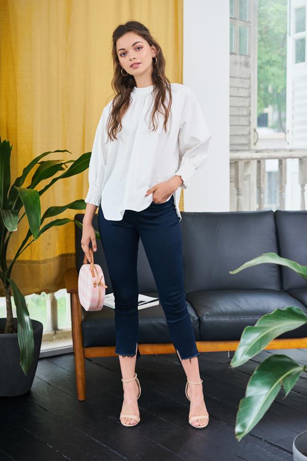 Hailie Slit Denim Jeans
