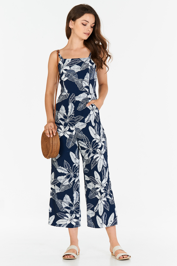 2ad70b3df174 ... Printed Jumpsuit in Navy. Hover your mouse to view bigger image Double  tap to zoom