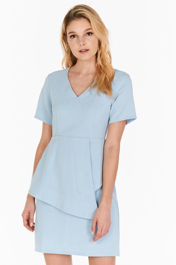 *W. By TCL* Jorine Peplum Dress in Blue