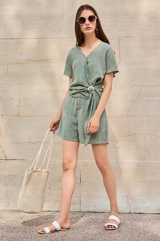 Jemma Houndstooth Printed Shorts