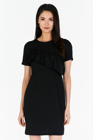 *W. By TCL* Venizia Ruffled Dress in Black