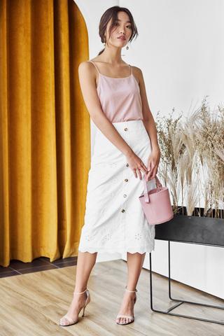 *Restock* Kourtney Two Way Linen Top in Pink