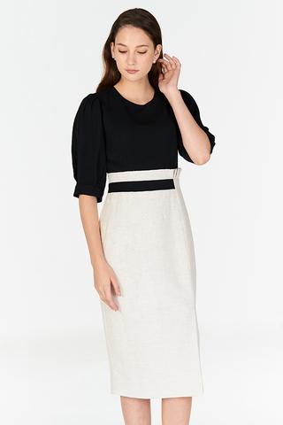 *W. By TCL* Alantis Colourblock Tweed Dress