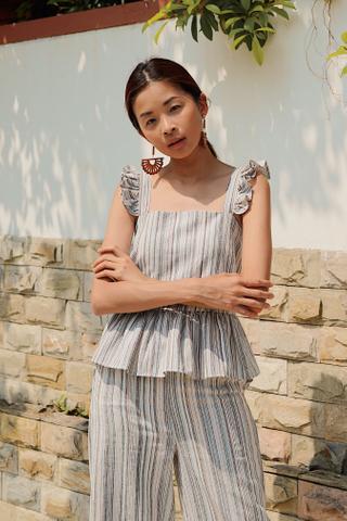 Tarin Linen Stripes Top