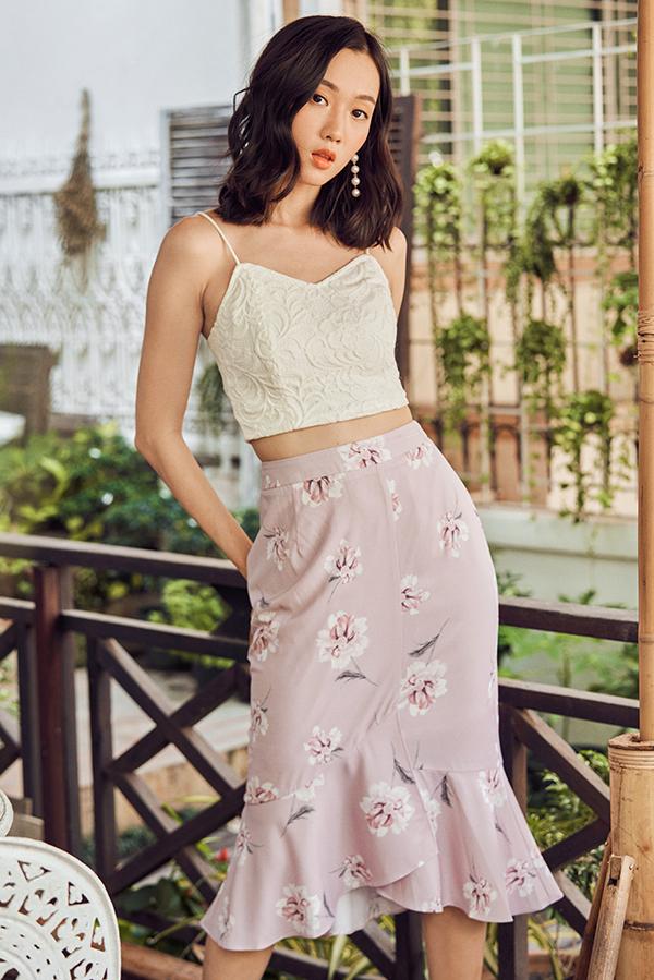 *Restock* Veneta Floral Printed Midi Skirt