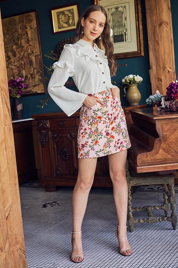 Dulcy Floral Printed Skorts