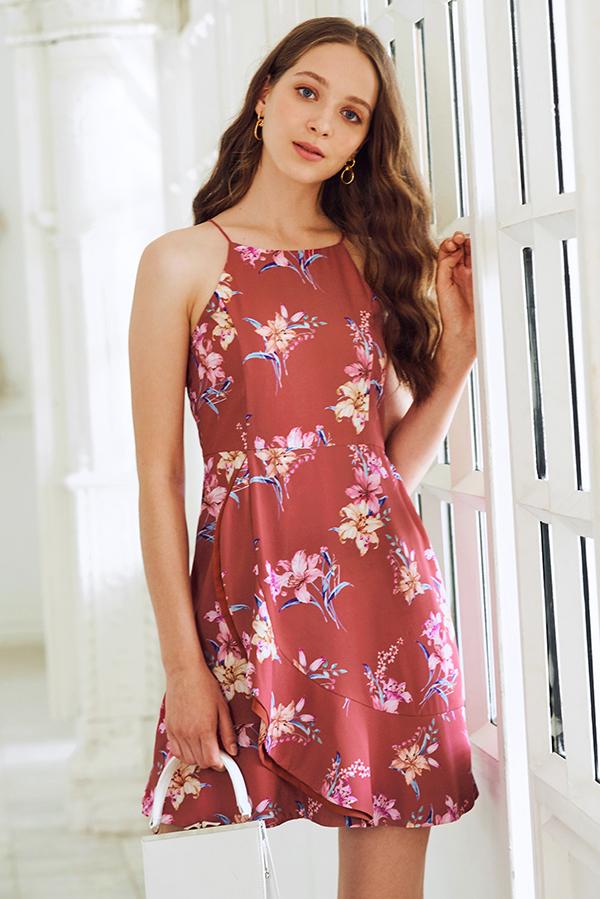 Audina Floral Printed Dress