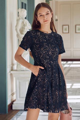 Solana Lace Crochet Dress