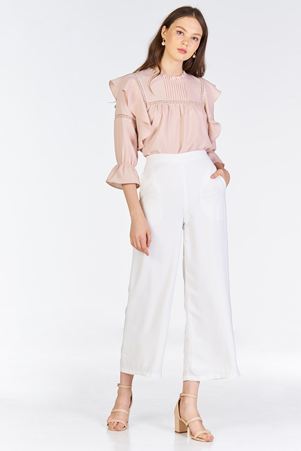 Sola Ruffled Top in Pink
