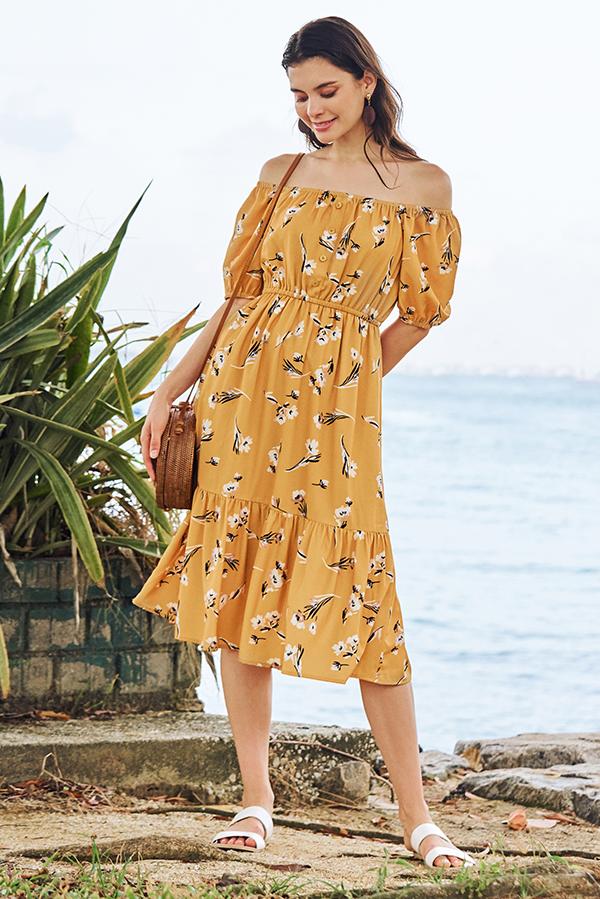 Rinasa Floral Printed Midi Dress
