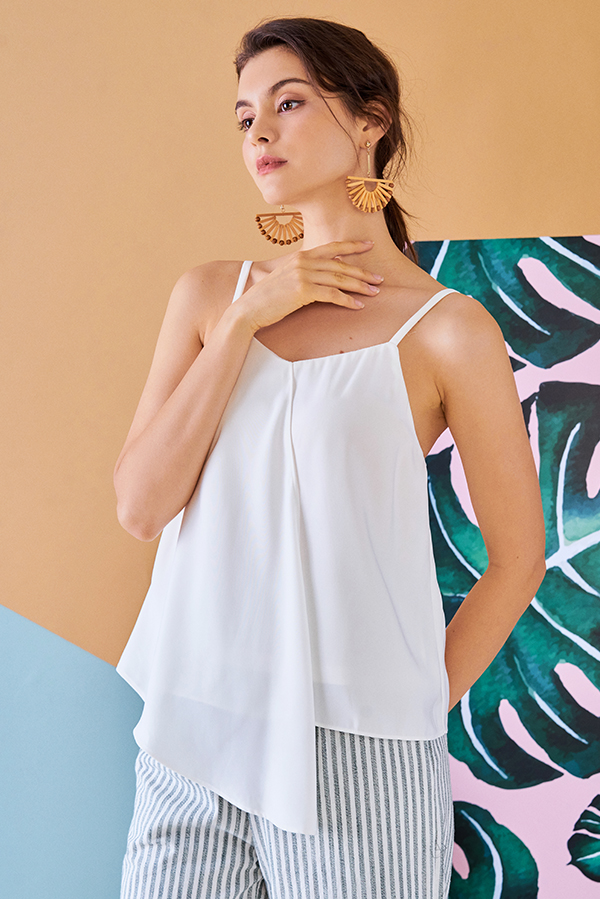 Caron Asymmetrical Top in White