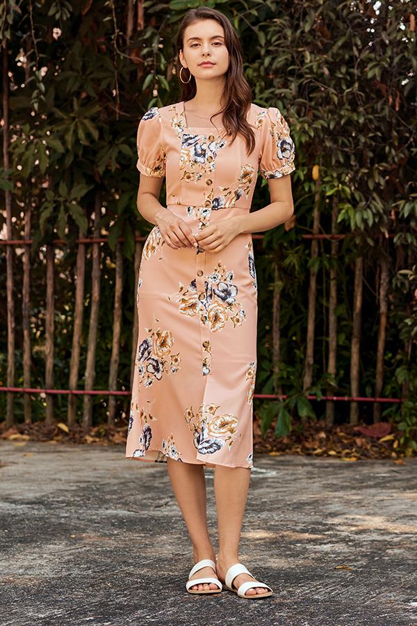 Chantila Floral Printed Midi Dress
