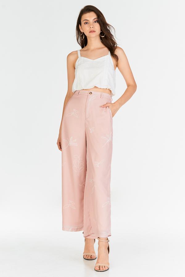 Leane Printed Pants in Pink