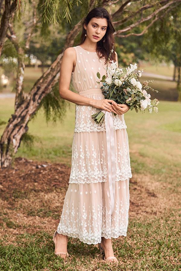 Eunoia Crochet Maxi Dress