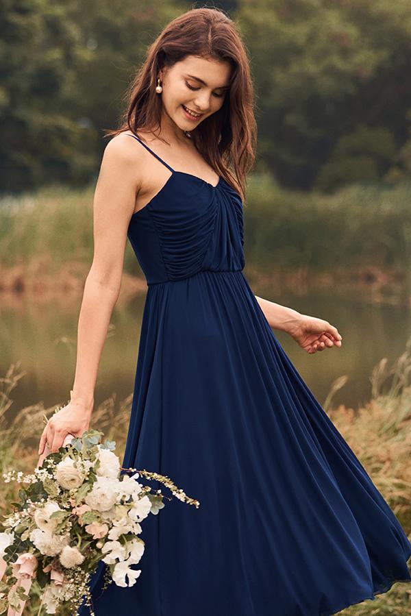 Carena Dress in Navy