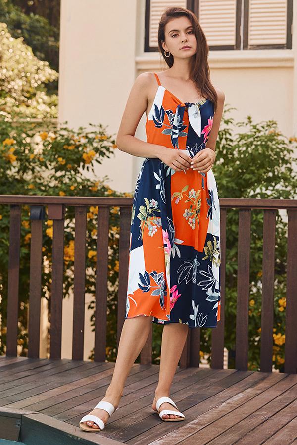 Clarrin Floral Printed Midi Dress