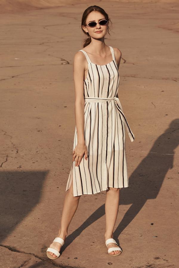 Sollia Striped Button Down Dress
