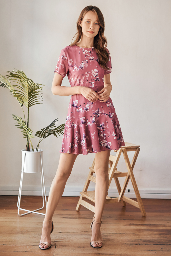 Herisa Floral Printed Sleeved Dress
