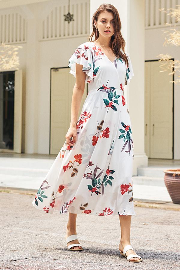 Rinassa Floral Printed Maxi Dress