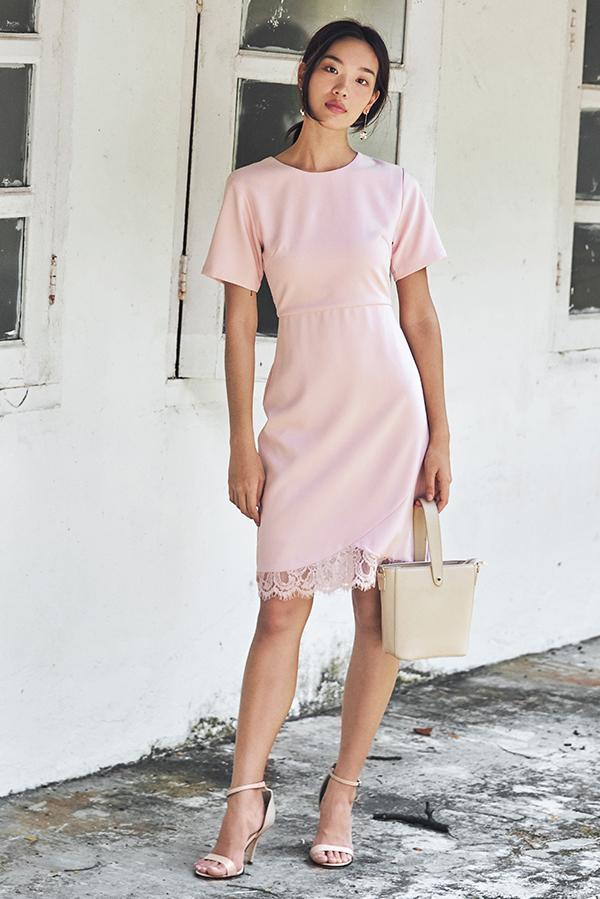 Cladice Lace Hem Dress