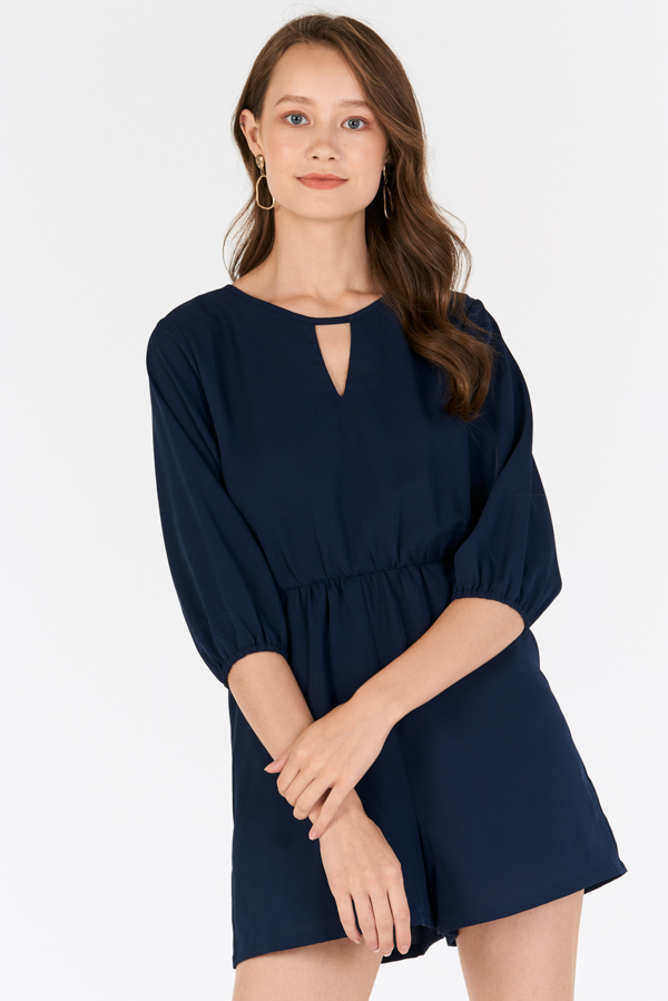volume large big selection of 2019 exclusive shoes Collisa Romper in Navy