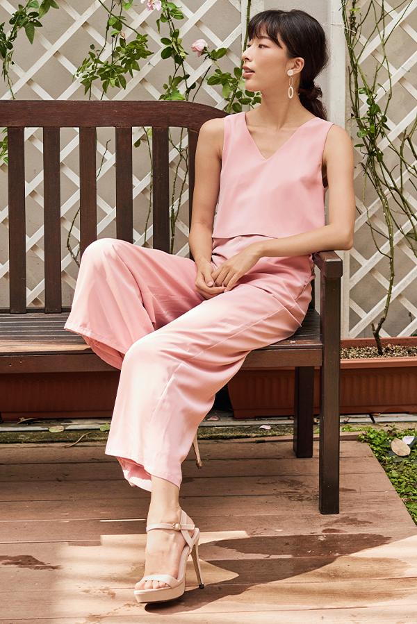 Kathleen Jumpsuit in Pink