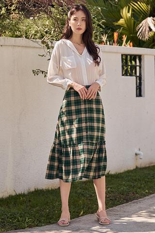 Careena Plaids Midi Skirt