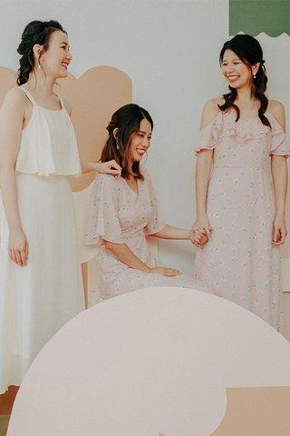 Liliana Floral Printed V Neck Dress