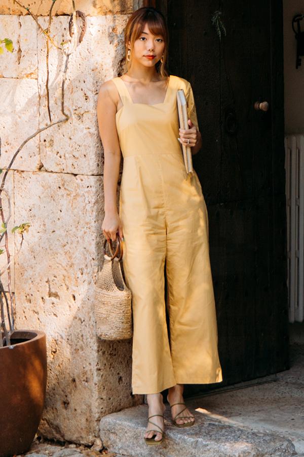 Aleta Asymmetrical Jumpsuit in Marigold