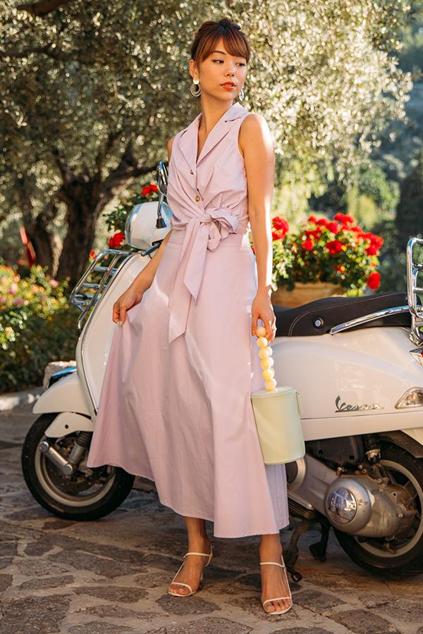 Restock* Noelia Midi Skirt in Lilac | The Closet Lover