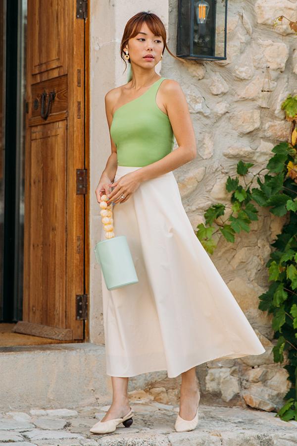 Noelia Midi Skirt in Cream