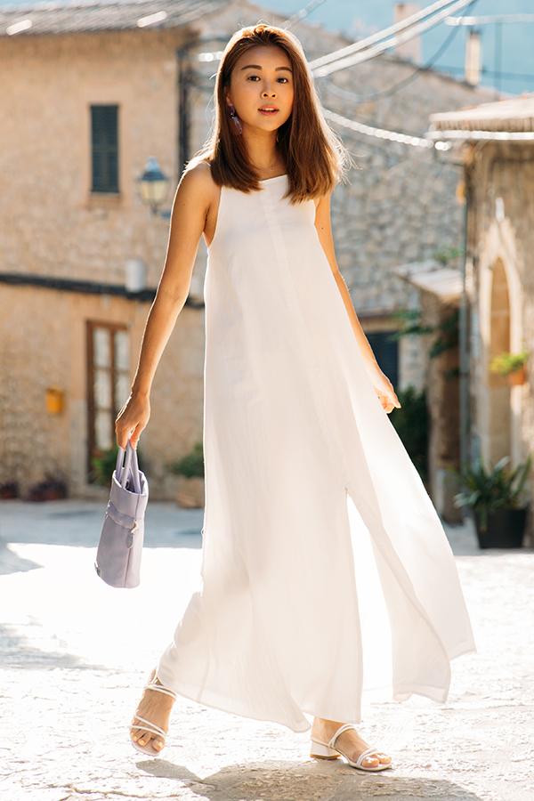 *Restock* Inez Multi-way Zip Dress in White