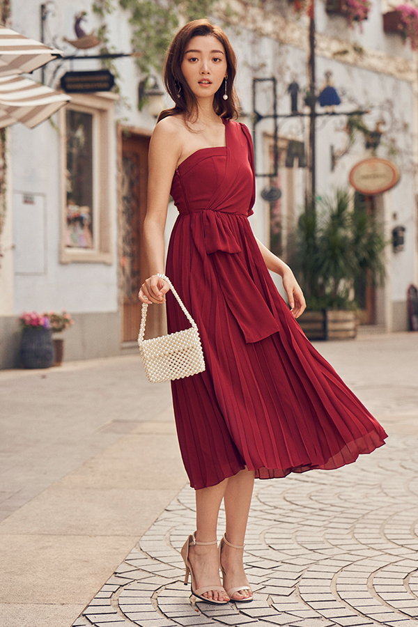 Scarlette Toga Pleated Dress