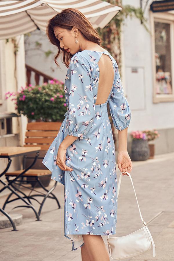 Brine Low Back Midi Dress
