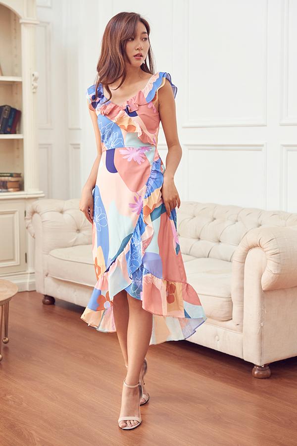 Karlee Ruffled Midi Dress