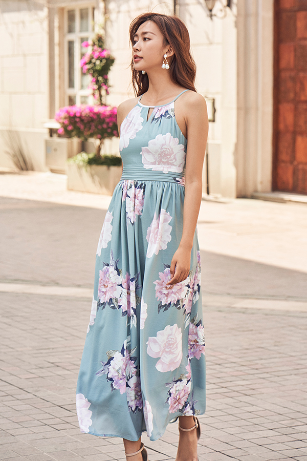 Lia Maxi Dress in Seafoam