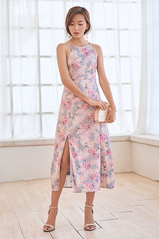 Irin Midi Dress in Slate Periwinkle