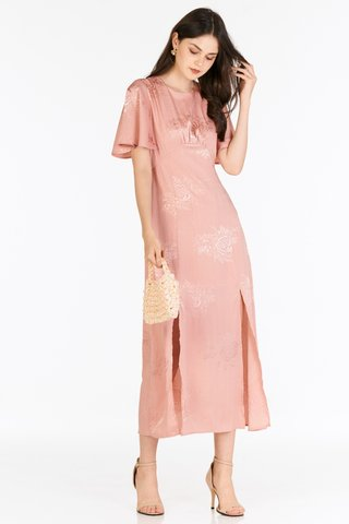 Giana Embossed Dress in Pink