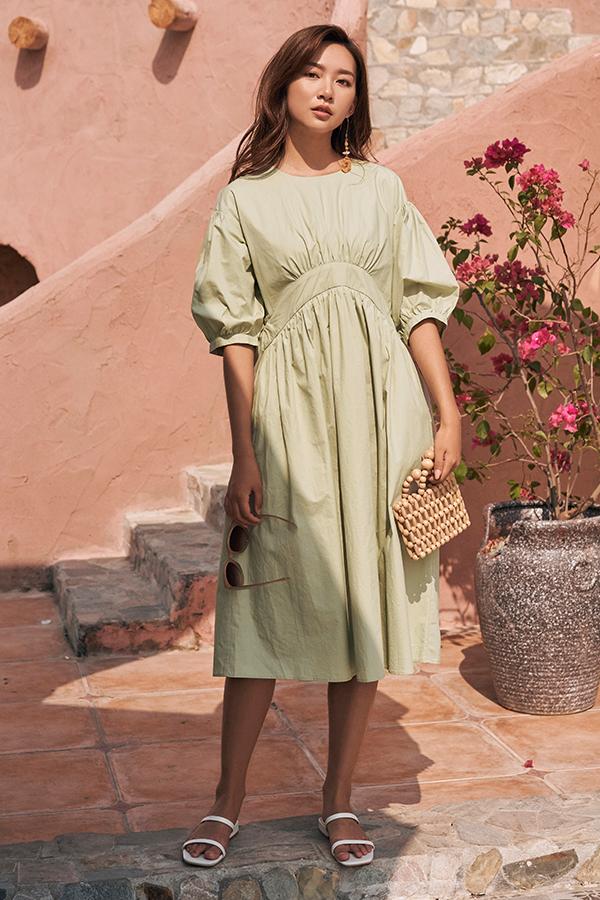 Marin Two Way Midi Dress in Sage