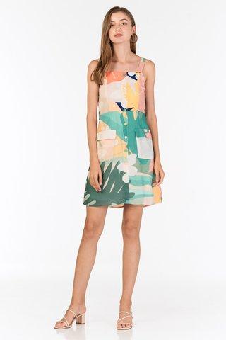 Akemmi Belted Dress in Pastel