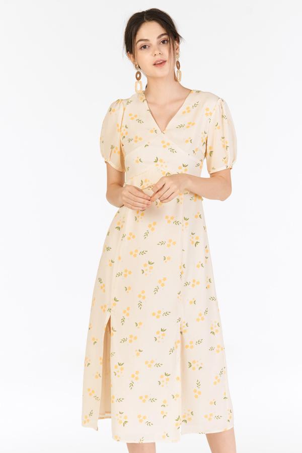 Lilla Midi Dress in Cream