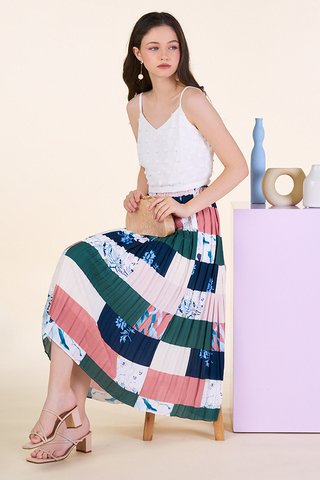 Finola Pleated Midi Skirt